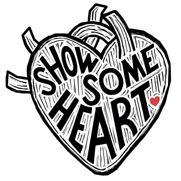 show some heart temporary tattoo design