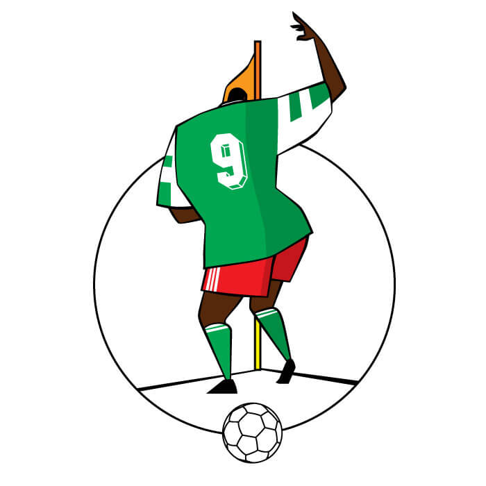 dancing man from Nigeria world cup soccer tattoo design