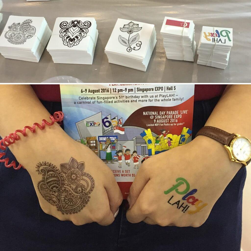 Gumtoo Temporary Tattoo Booth at Play Lah! Singapore Expo 2016