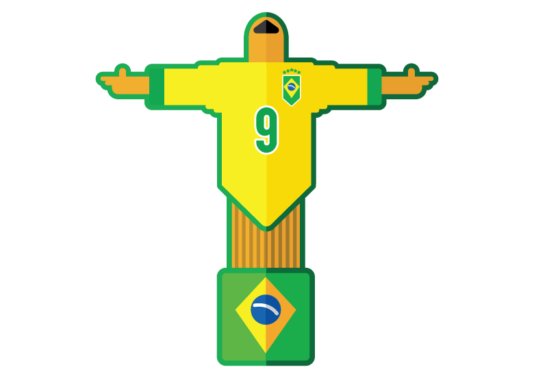 brazil flag temporary tattoo design