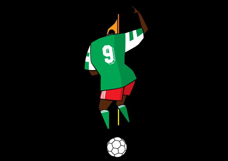 dance nigeria football temporary tattoo design