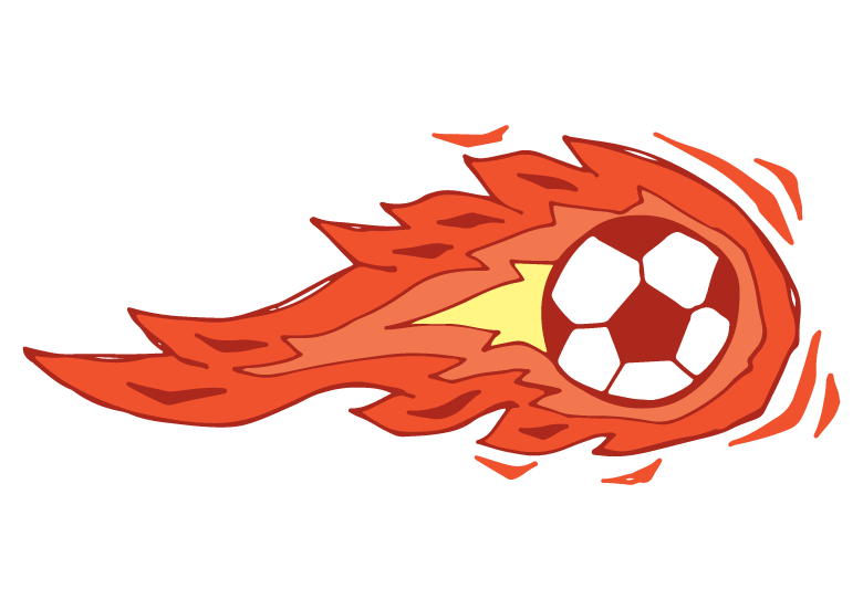 flaming football temporary tattoo design