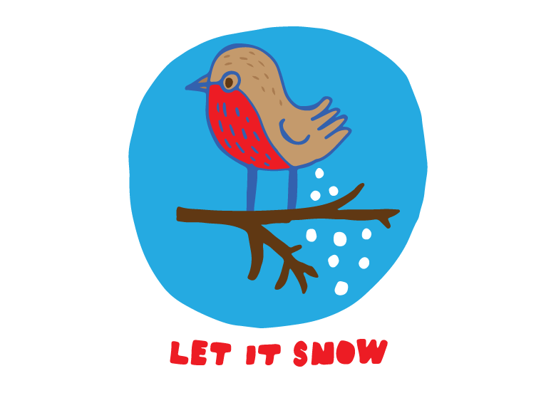 let it snow christmas temporary tattoo design